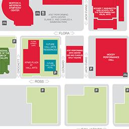 Map | Dallas Arts District Dallas District Map on